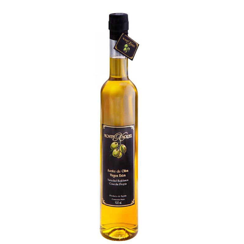 Hojiblanca 500ml botella cuello alto transparente